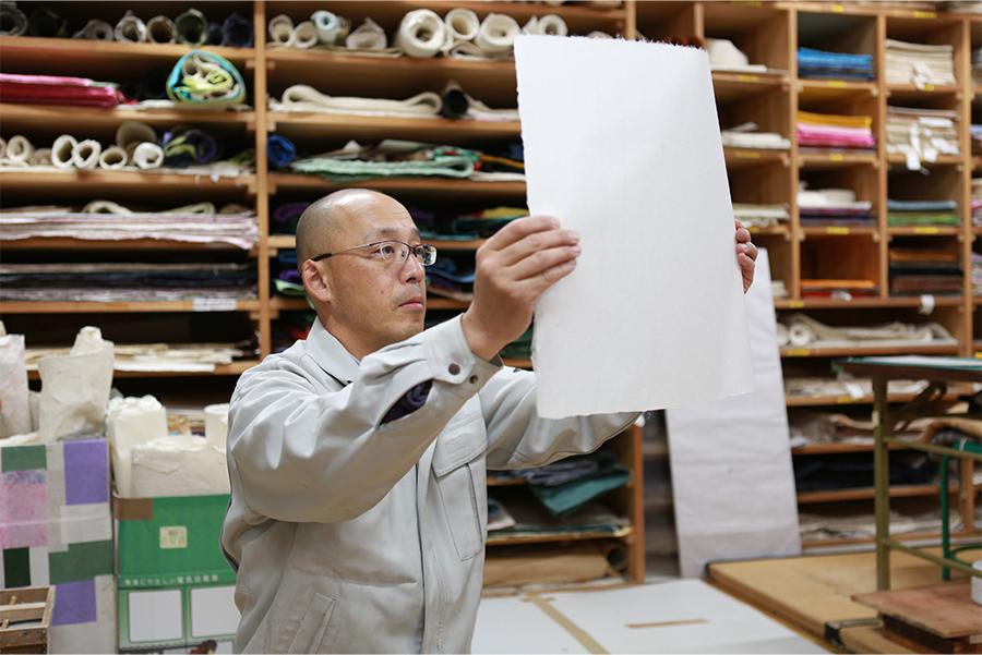 杉原紙の検品